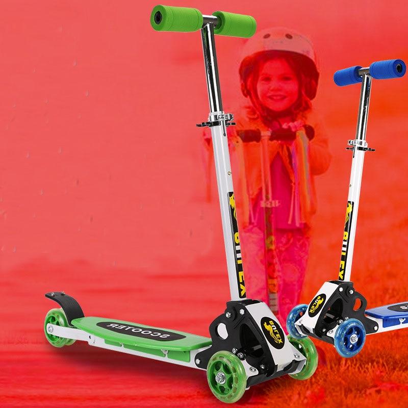 2019 pliant enfants enfant baie flash scooters voiture bébé marcheur voiture enfants hauteur réglable planche à roulettes dérive voiture luge - 4