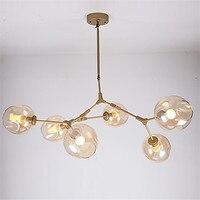 Modern Vintage Magic LED Pendant Light Hanging Light Sphere Ball Industrial LOFT Iron Droplight Tree Classic