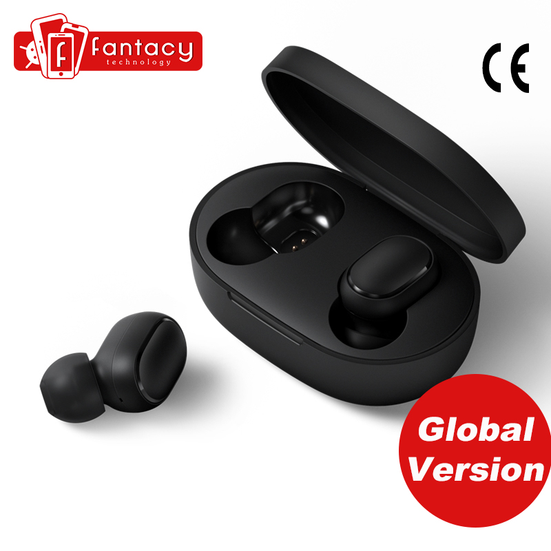 Global Version Xiaomi Redmi Airdots TWS Bluetooth Earphone Stereo Bass Bluetooth 5.0 With Mic Handsfree Earbuds AI