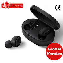 Globale Version Xiaomi Redmi Airdots TWS Bluetooth Kopfhörer Stereo bass Bluetooth 5,0 Mit Mic Freihändiger Ohrhörer AI