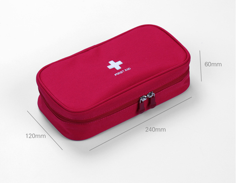 Image 2 - Red First Aid Kit Nylon Emergency Medical First aid kit bag Nylon Waterproof Portable Car kits bag Outdoor Travel Survival kit-in Emergency Kits from Security & Protection