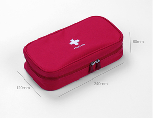 Image 2 - Red First Aid Kit Nylon Emergency Medical First aid kit bag Nylon Waterproof Portable Car kits bag Outdoor Travel Survival kit