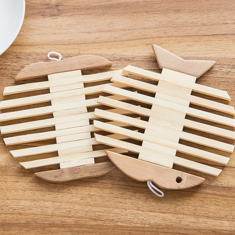 Fish Shaped Wooden Bamboo Table Mat Heat Pad Insulated Kitchen Insulation  Mats In Mats U0026 Pads From Home U0026 Garden On Aliexpress.com | Alibaba Group