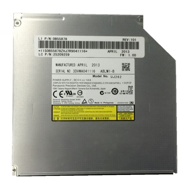 brand new UJ262 optical Drive for Panasonic UJ-262 9.5mm SATA Slim Ultra thin 6X 3D Blu-ray Burner 0B55878 25209259 new blu ray dvd rewriter 12 7mm sata laptop drive for panasonic uj 260 uj260 6x