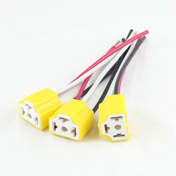 FSYLX 10 шт. H4 9003 hb2 автомобильный Грузовик керамическая противотуманная фара разъем лампа провод гнездо адаптер держатель