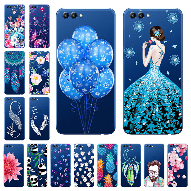"Soft 5.99"" Huawei Honor V10 Case Cover Transparent TPU Phone Huawei View 10 Case Back Protetive Bumper Huawei Honor V10 V 10 Bag"