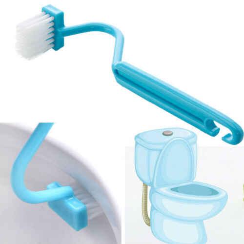 1 sztuk w kształcie litery S szczotka do toalety przenośne wc szczotka do szorowania zakrzywione czyste szafie miska szczotka