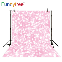 Funnytree Background For Photo Studio Bokeh Pink Dots Glitter Girl Shiny Backdrop Photography Photocall Portrait Shooting