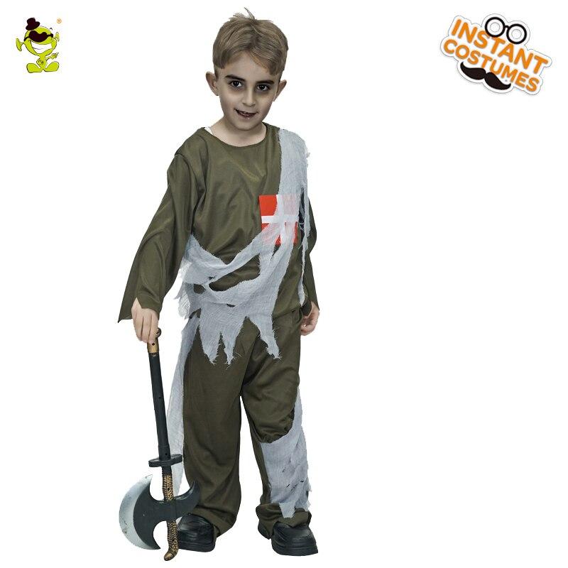 Junge Zombie Arzt Kostüme Halloween Karneval Party Horror Mediciner Cosplay Phantasie Kleid Kinder Terror mörder Disguise Outfit