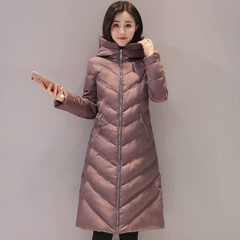 2017 long hooded women winter coat big size 3XL cotton padded casacos de inverno feminino warm thicken parka womens coats women winter xl long parka femme parka women s winter thicken coat casacos women s park cotton jackets wc91192