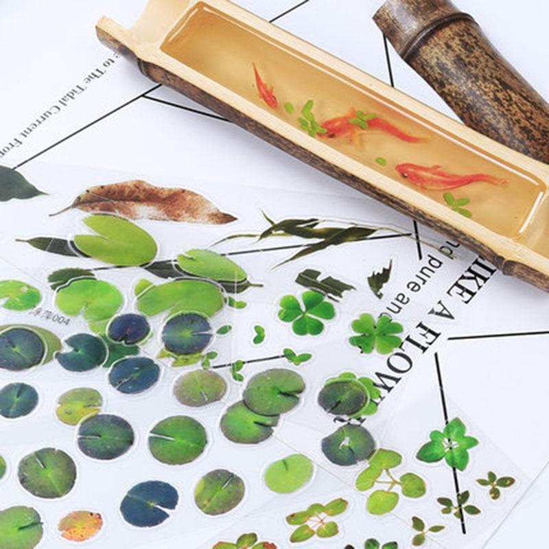 5pcs 3DSimulation Fish Lotus Duckweed UV Resin Decorative Sticker Fit Molds DIY Micro Landscape  Phone Case Scrapbooking Sticker