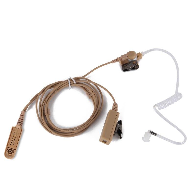 For Motorola Radio GP88 Two Way M-plug Air Duct Earphone Earphone Headset With Ptt CP040, CP200, GP300, GP88 Walkie Talkie Radio