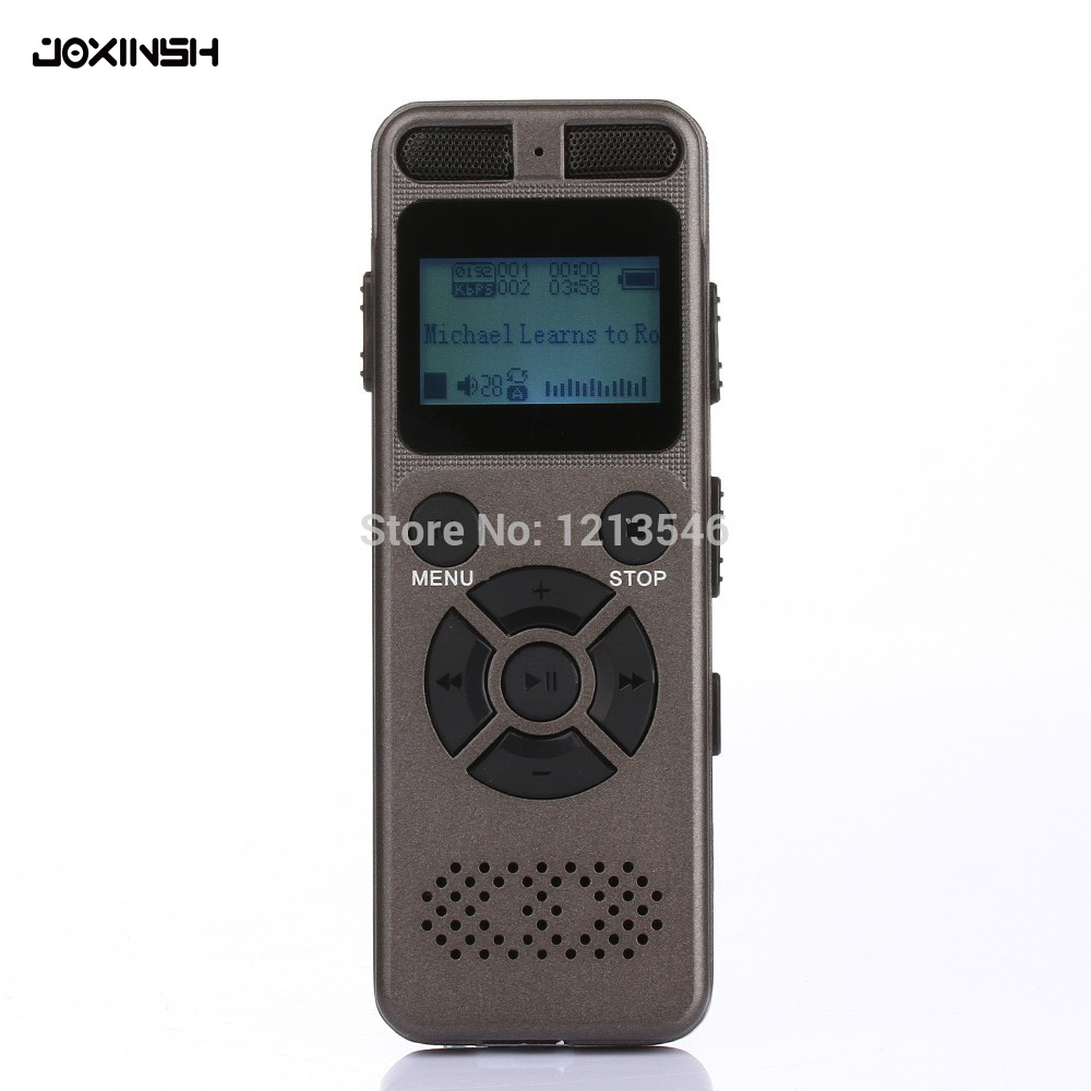 8GB Professional Audio Recorder Business Portable Digital Voice Recorder USB Support Multi language Tf Card to