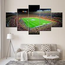 цена Canvas Painting spain fc barcelona sports football 5 Pieces Wall Art Painting Modular Wallpapers Poster Print  Home Decor онлайн в 2017 году