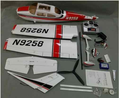 Good for beginner RC airplane trainer plane Cessna 182 1410mm wingspan 6ch  with flaps, led light epo RTF Ready to Fly