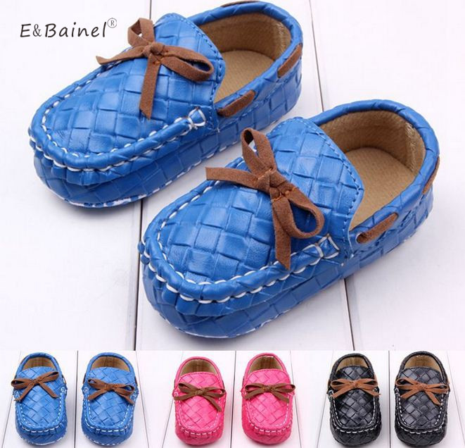 Newborn Baby Boy First Walkers Baby Moccasin Shoes PU Leather Prewalkers for Kids Crib Shoes