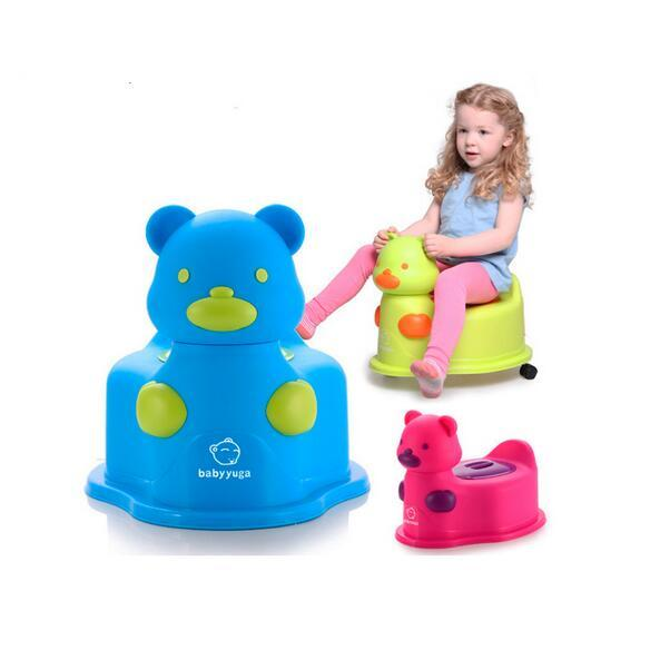 The New Potties Bear Multifunctional baby potty kids toilet chair with wheel portable Children's musical toys toilet #105