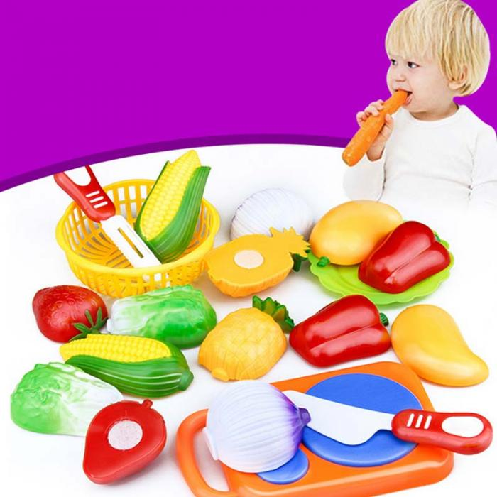 12 Pcs Set Kids Kitchen Toy Plastic Fruit Vegetable Food Cutting Pretend Play Early Educational Children Toys pretend play