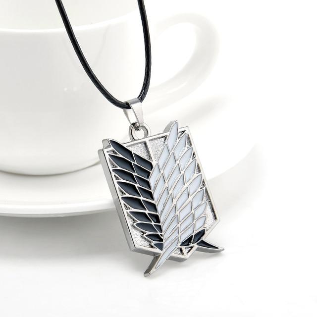 Металл Аниме Нападение на Titan Крылья свободы Ожерелье Shingeki нет Kyojin Косплей Ожерелье Обследования Корпуса Колье Ожерелье