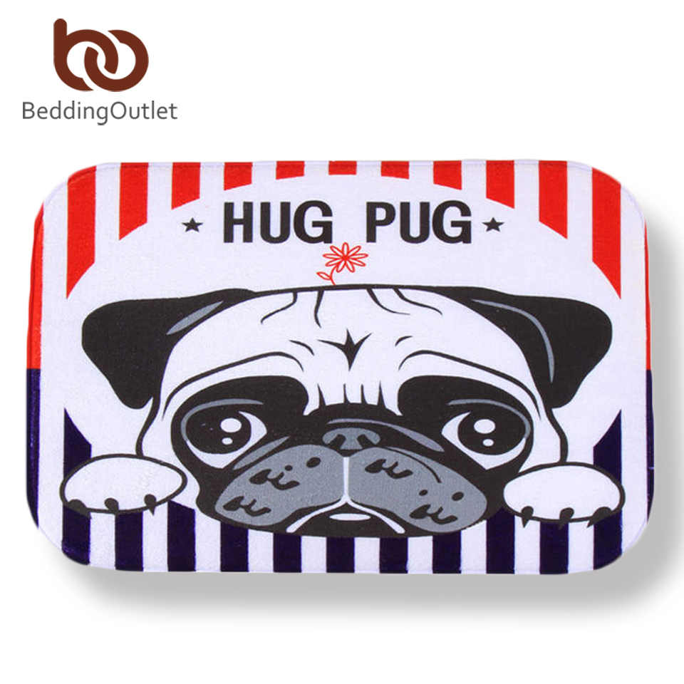 BeddingOutlet Dog Carpet Cute Printed Coral Fleece Floor Mat for Bedroom Kids Doormat 40x60cm Bathroom Rug. Outdoor Dog Bathroom Reviews   Online Shopping Outdoor Dog