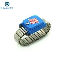 Phonefix pulseira antiestática ajustável, sem fio, fecho, componentes eletrônicos, reparo para ferramentas de reparo de iphone
