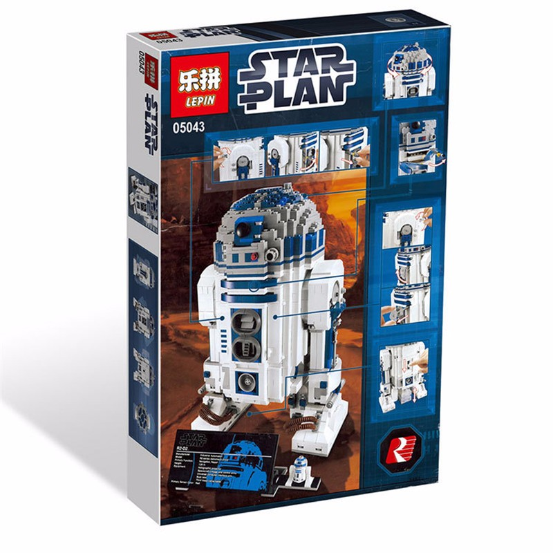 Clone 10225 Lepin 05043 LELE 35009 UCS Genuine Star War Series The R2-D2 Robot Set Building Blocks Bricks Set Toys lepin 05085 genuine star war series the jedi defender class cruiser set building blocks bricks toys clone 75025