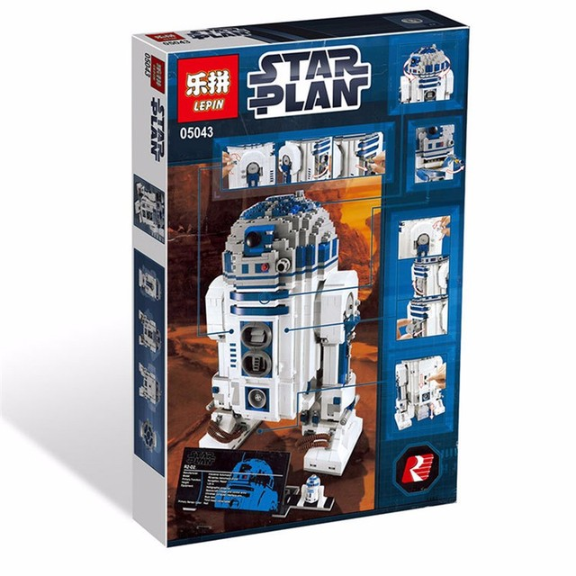 Clone 10225 Lepin 05043 LELE 35009 UCS Genuine Star War Series The R2-D2  Robot