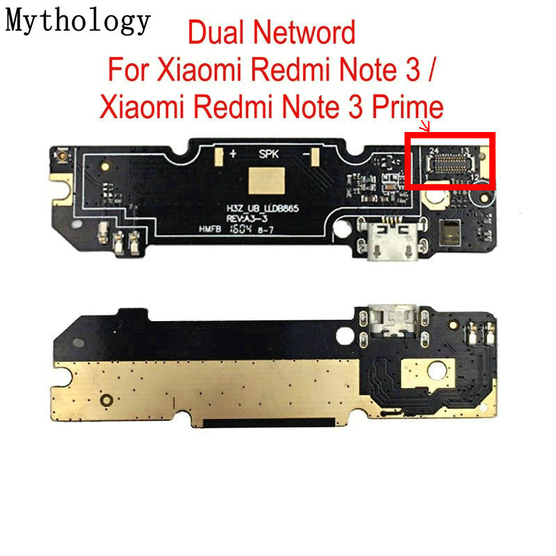 Mythology USB Charging Circuits Board For Xiaomi Redmi Note 3 Mobile Phone Flex Cable Connector Parts