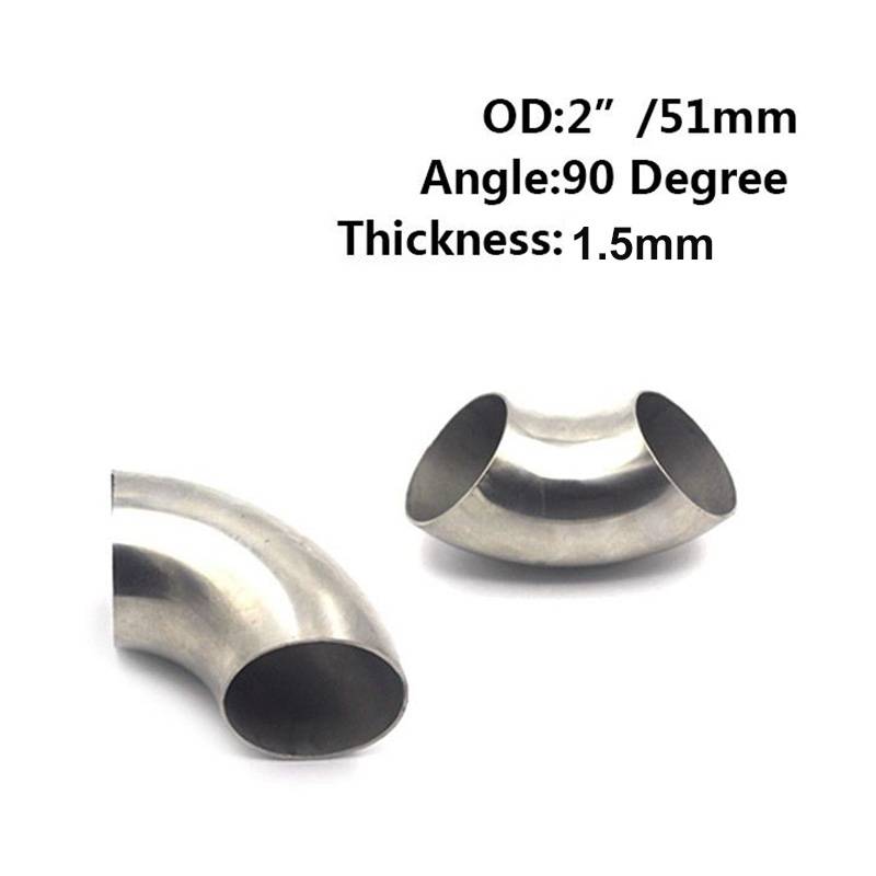 Replacement Elbow Pipe Parts 90° Thick Accessories Set 51mmx1.5mm Exhaust|Mufflers| |  - title=