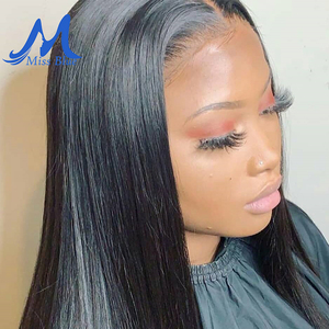 Image 2 - Missblue Brazilian Human Hair Lace Closure Straight 4x4 5x5 Swiss Lace 100% Remy Hair Lace Frontal Closure With Baby Hair