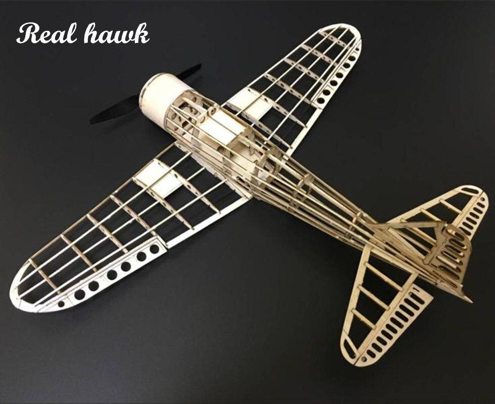 Mini RC Flugzeug Laser Cut Balsa Holz Flugzeug Kit Zreo A6M Rahmen ohne Abdeckung Freies Verschiffen Modell Gebäude Kit freies verschiffen