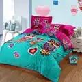 Conjunto de cama consolador 100% algodão coruja parure lit adulto edredon macio pug animal rainha rei tamanho xhs0093