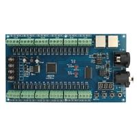 LEORY DC 5 24V 36 kanał DMX 512 kontroler XRL 3P oświetlenia DMX kontroler led dekoder ściemniacz do listwy rgb led sterownik lampy w Konwerter DAC od Elektronika użytkowa na