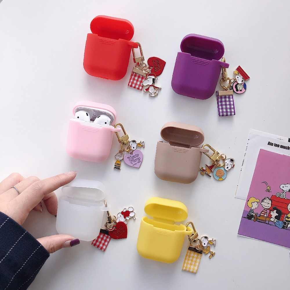 Cute Cartoon Dog for AirPods protective Case Silicone Soft shell for wireless Bluetooth headset set female Cover anti-fall