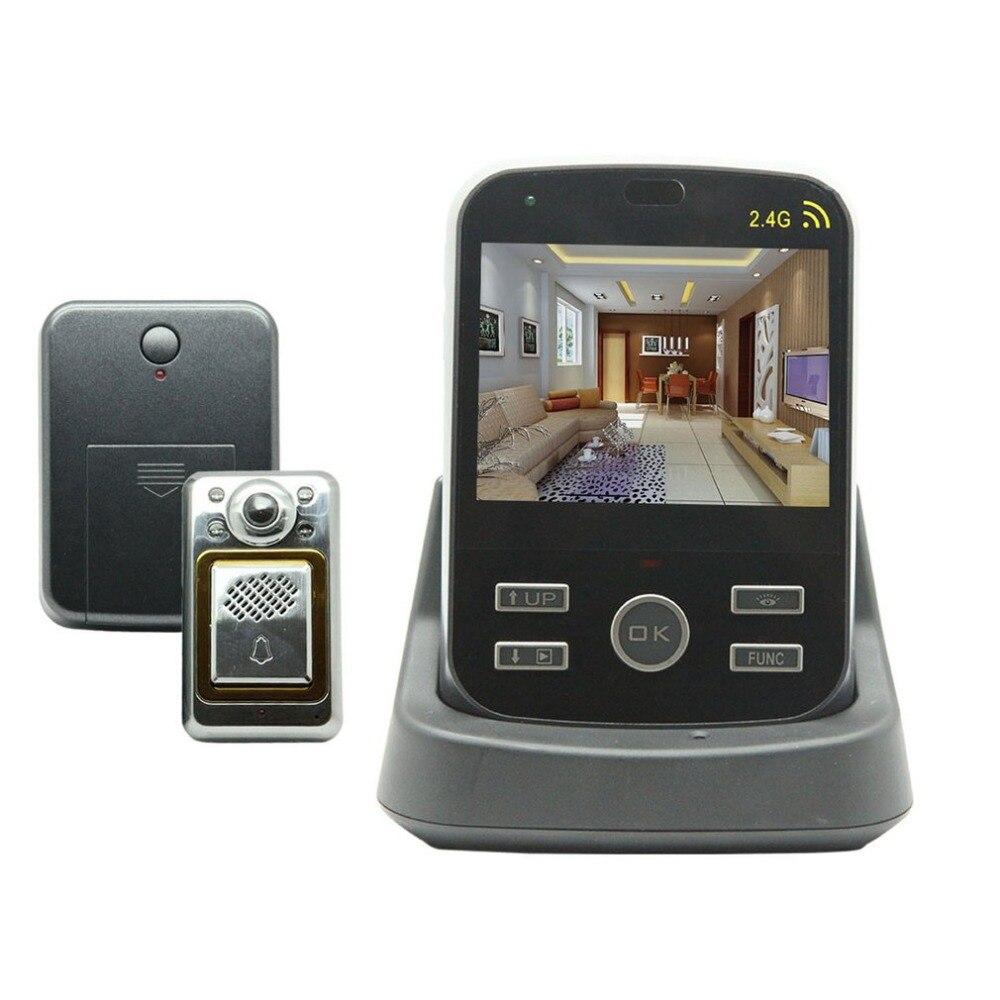 """KiVOS 2.4 GHz 3.5 """"numérique porte oeil judas sans fil porte visionneuse vidéo sonnette caméra moniteur pour maison appartement"""