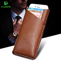 FLOVEME Genuine Leather Phone Case 5 5 Universal For IPhone 7 6 6s Plus For Samsung