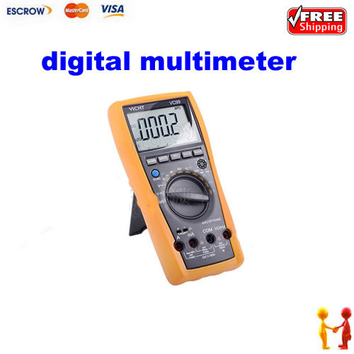 ФОТО Free shipping!! Vichy VC99 3 6/7 Auto range digital multimeter with bag Count AC DC Ohm Hz better than 17B