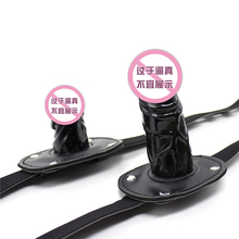 Adult Game Sex Meubels Silicone Dildo Gag Oral Sex Penis Mouth Plug Penis Gag With Locking Buckles Leather Bondage Female Sex