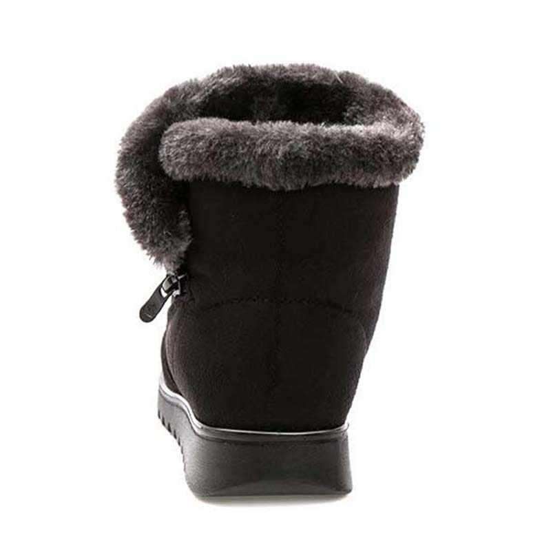 Knöchel schnee stiefel schuhe frauen stiefel winter freizeit warme botas mjuer komfortable plüsch weibliche booties winter damen schuhe WSH3143