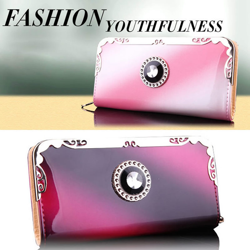 THINKTHENDO Women Fashion PU Leather Clutch Wallet Card Holder Bag Ladies Long Purse Handbag