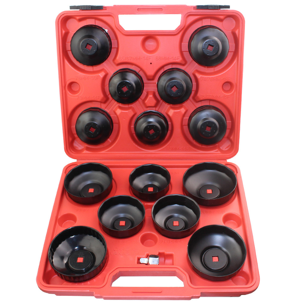 5 Pc Universal Cap Type Oil Filter Wrench Set Oil Change Cup Socket Tool