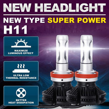 2019 Car Headlight 2PC X3 H11 50W 12000LM Car Led Headlamps 6500K White High Power H11 LED Auto Headlights Lamp Fog Lights New