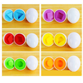 6pcs eggs /1set Learning Education toys Mixed Shape Wise Pretend Puzzle Smart Eggs Baby Kid Learning Gift for Child