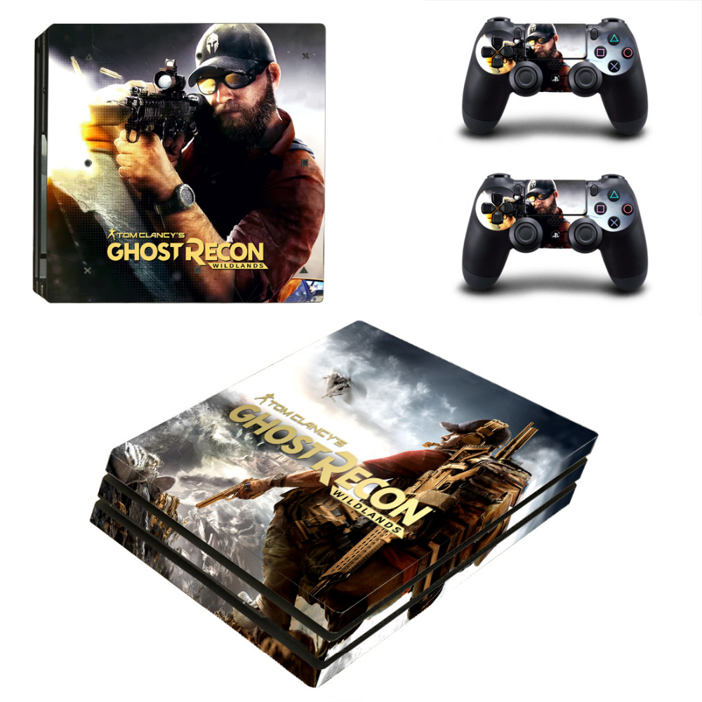 Tom Clancys Ghost Recon Wildland PS4 Pro Skin Sticker For Sony PlayStation 4 Pro Console and Controllers PS4 Pro Skin Stickers