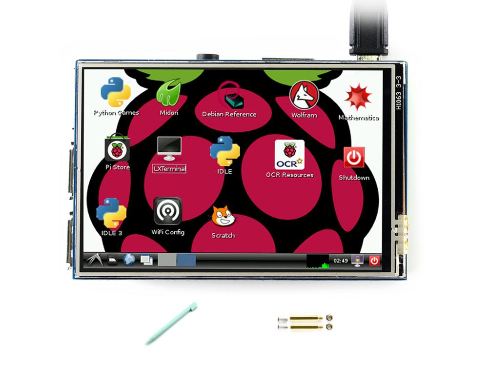 Waveshare 3 5inch RPi LCD B 320 480 Touch Screen IPS TFT Display For all Raspberry