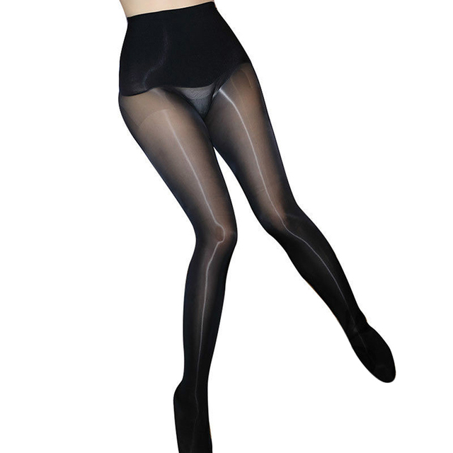 Oil Glossy Ultrathin Seamless Transparent Magic High Waist  Pantyhose 5