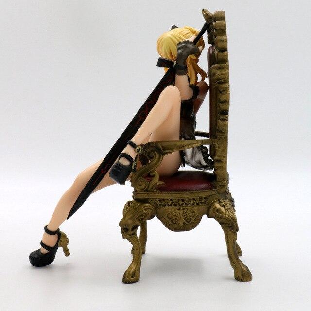 16 см Судьба Ночь Сабер трон фигурку ПВХ игрушечные лошадки Коллекция аниме мультфильм модель коллекционные 5