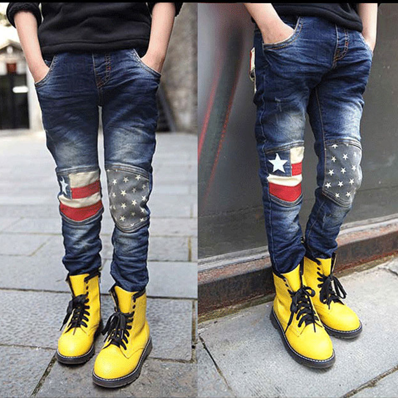 Kids Pants Trousers Jeans Teenager Baby-Boys Children Casual Autumn Spring Cotton 4-15year title=