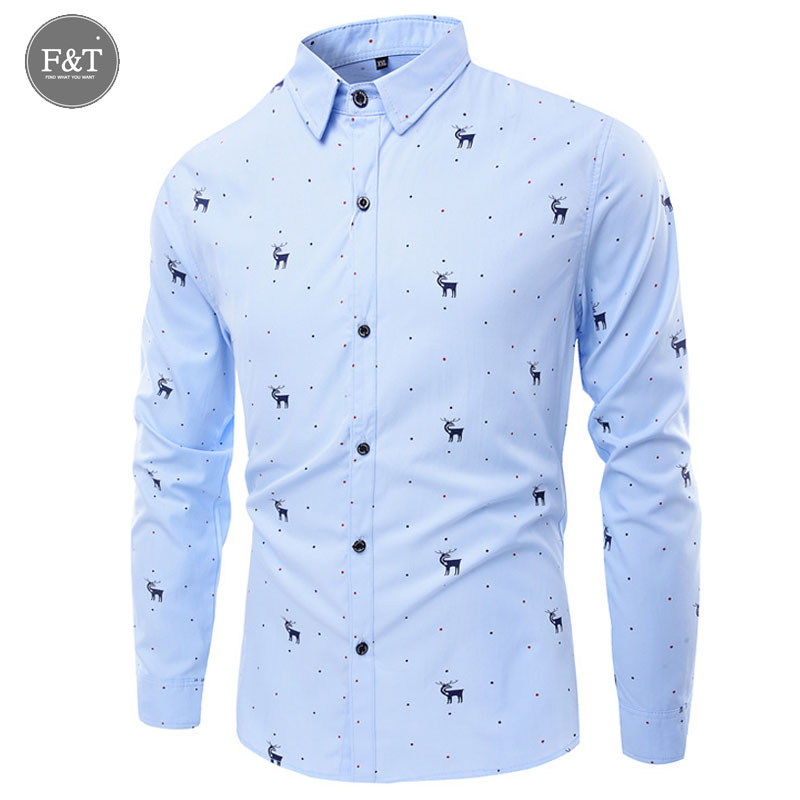 New Mens Turn Down Collar Formal Shirts Men Long Sleeve