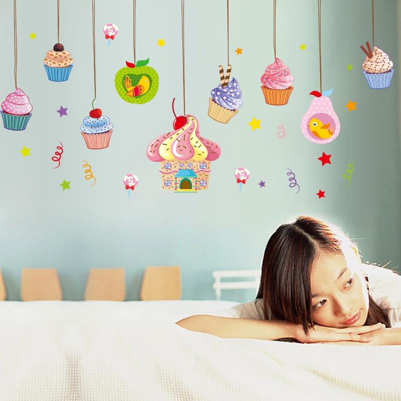 Eis Kuchen Shop Wandaufkleber Kinderzimmer Kindergarten Baby